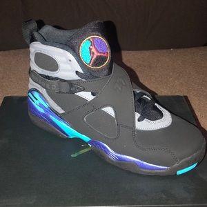 Jordan 8 7Y Aqua